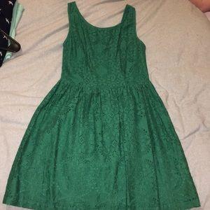 ModCloth Green Lace Dress